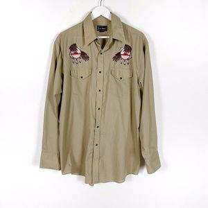 Men's High Noon Tan Western Button Up
